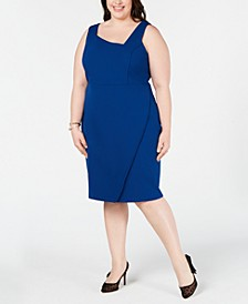 Plus Size Asymmetrical Sheath Dress