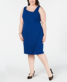 Betsey Johnson Plus Size Asymmetrical Sheath Dress