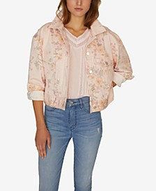 Garden Girl Retro Denim Jacket