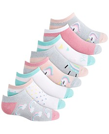 Planet Sox Little & Big Girls 8-Pack Unicorn No-Show Socks