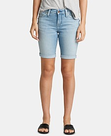 Silver Jeans Co. Suki Curvy-Fit Denim Bermuda Shorts