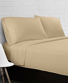 100% Cotton Percale 300 Thread Count 4-Piece Sheet Set - King