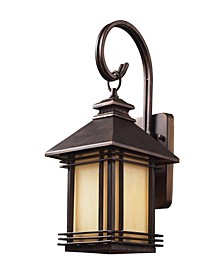 Blackwell 1 Light Outdoor Wall Sconce in Hazelnut Bronze