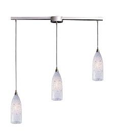 Verona Collection 3 Light Linear Bar Snow White Glass