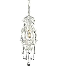 Opulence 1-Light Pendant in Antique White