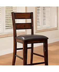 Benzara Cottage Counter Height Chair, Set of 2