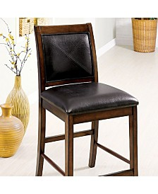 Benzara Transitional Style Counter Height Chair, Set of 2