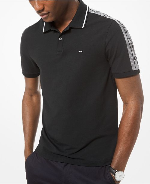 fd38c3d8 Michael Kors Men's Performance Stretch Logo Polo & Reviews - Polos ...