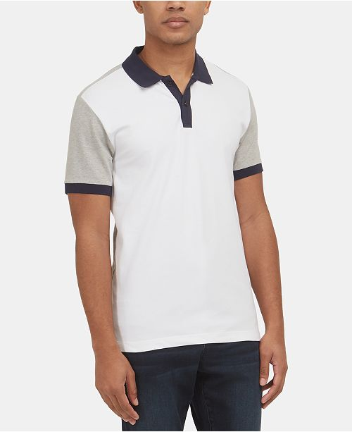 Kenneth Cole Men's Stretch Colorblocked Polo