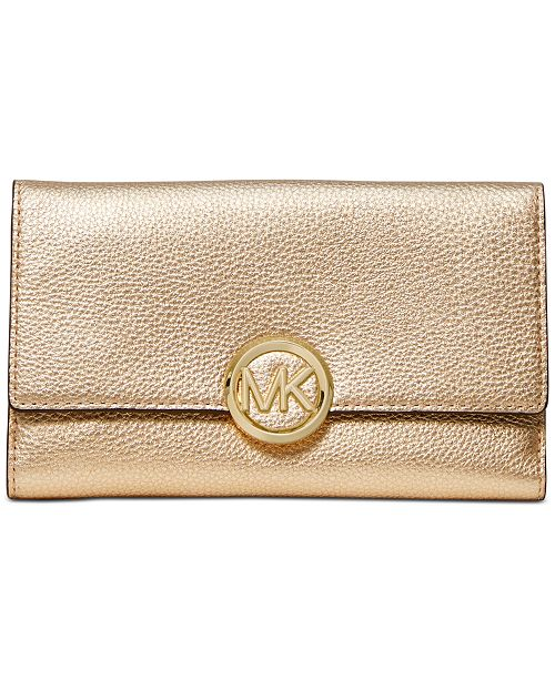 Michael Kors Lillie Pebble Leather Carryall Wallet