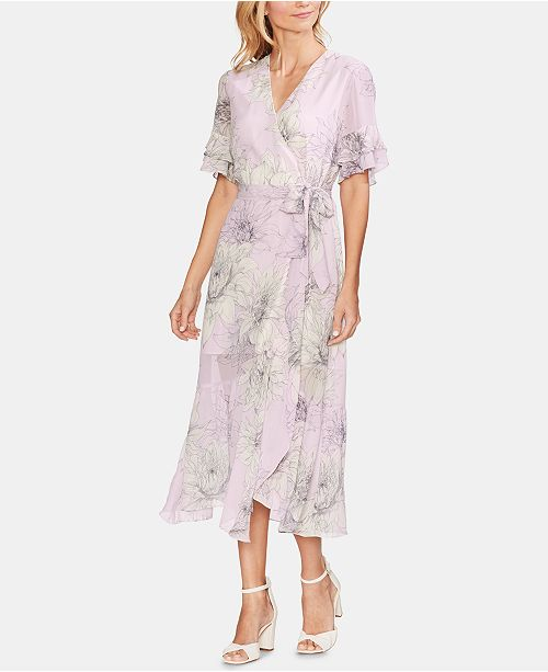 6c3906a79 Vince Camuto Printed Ruffled Faux-Wrap Dress & Reviews - Dresses ...