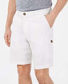 "Men's Linen Blend 9"" Cargo Shorts, Created for Macy's"