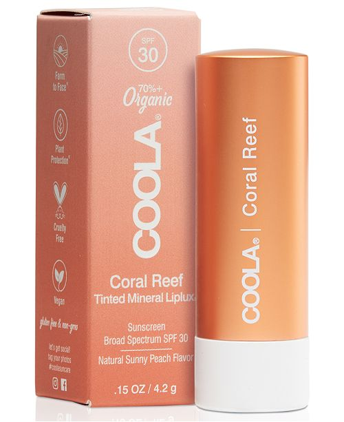 COOLA Coral Reef Mineral Liplux SPF 30, 0.15-oz.