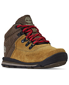 Timberland Little Boys' GT Rally Mid Cut Mixed-Media Boots from Finish Line