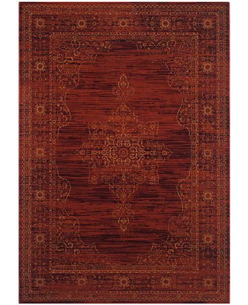 Safavieh Serenity Ruby and Gold 6' x 9' Area Rug