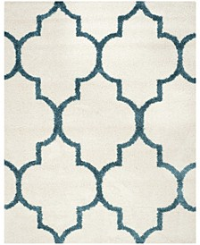 Shag Kids Ivory and Blue 8' x 10' Area Rug