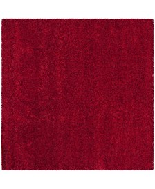 California Red 4' x 4' Square Rug