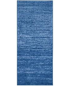 "Adirondack Light Blue and Dark Blue 2'6"" x 8' Runner Area Rug"