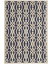 "Martha Stewart Collection Azurite Blue 8' x 11'2"" Area Rug, Created for Macy's"