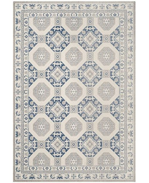 Safavieh Patina Blue and Ivory 4' x 6' Area Rug