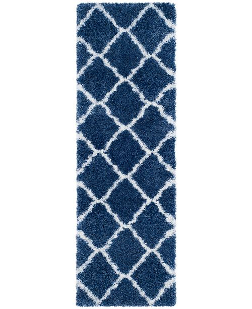 """Safavieh Montreal Blue and Ivory 2'3"""" x 7' Runner Area Rug"""