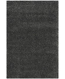 "Santa Monica Shag Dark Gray 6'7"" X 9'6"" Area Rug"