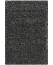 "Safavieh Santa Monica Shag Dark Gray 6'7"" X 9'6"" Area Rug"