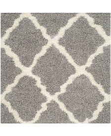 Dallas Gray and Ivory 8' x 8' Square Area Rug