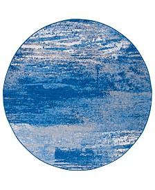Safavieh Adirondack Silver and Blue 8' x 8' Round Area Rug