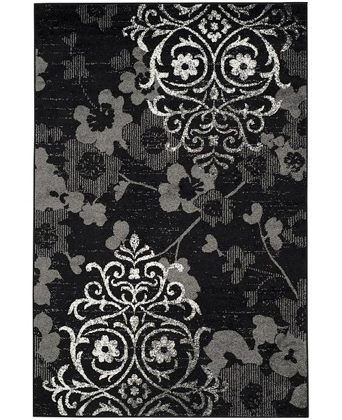 Safavieh Adirondack 114 Black and Silver Area Rug Collection