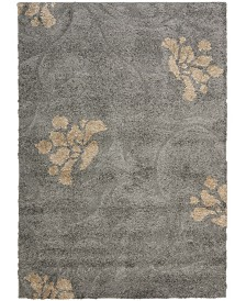 Safavieh Shag Gray and Beige 6' x 9' Area Rug
