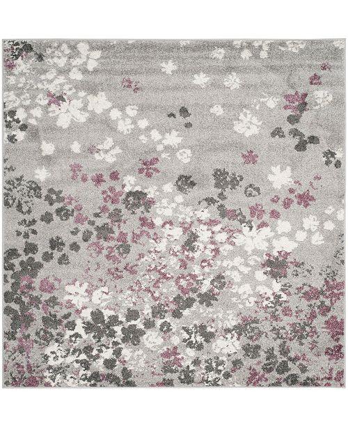 Safavieh Adirondack Light Gray and Purple 8' x 8' Square Area Rug