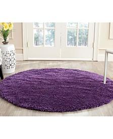 Safavieh Shag Purple 3' x 3' Round Area Rug