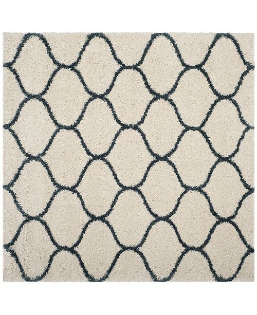 Safavieh Hudson Ivory and Slate Blue 7' x 7' Square Area Rug