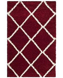 """Hudson Red and Ivory 5'1"""" x 7'6"""" Area Rug"""