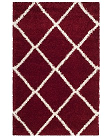 "Safavieh Hudson Red and Ivory 5'1"" x 7'6"" Area Rug"