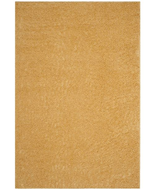 "Safavieh Arizona Shag Gold 6'7"" x 9'2"" Sisal Weave Area Rug"
