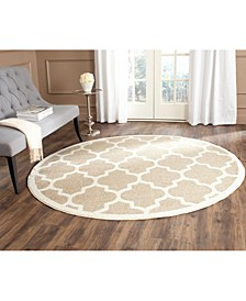 Amherst Wheat and Beige 5' x 5' Round Area Rug