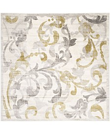 Amherst Ivory and Light Gray 9' x 9' Square Area Rug