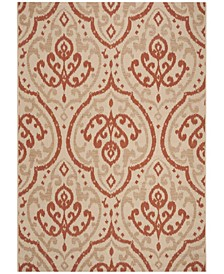 """Beige and Terracotta 6'7"""" x 9'6"""" Area Rug, Created for Macy's"""