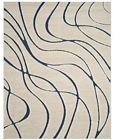 "Safavieh Shag Cream and Blue 8'6"" x 12' Area Rug"