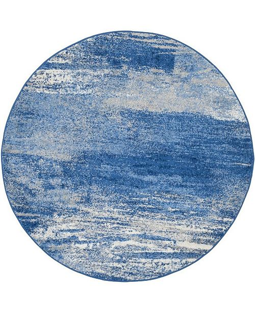 Safavieh Adirondack Silver and Blue 10' x 10' Round Area Rug