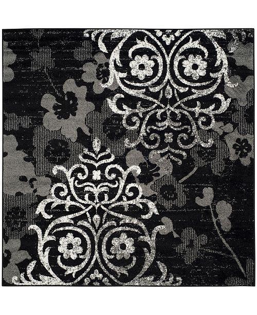 Safavieh Adirondack Black and Silver 8' x 8' Square Area Rug
