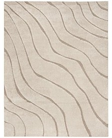 Safavieh Shag Cream and Beige 8' x 10' Area Rug