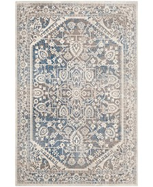 Safavieh Patina Gray and Blue 4' x 4' Square Area Rug