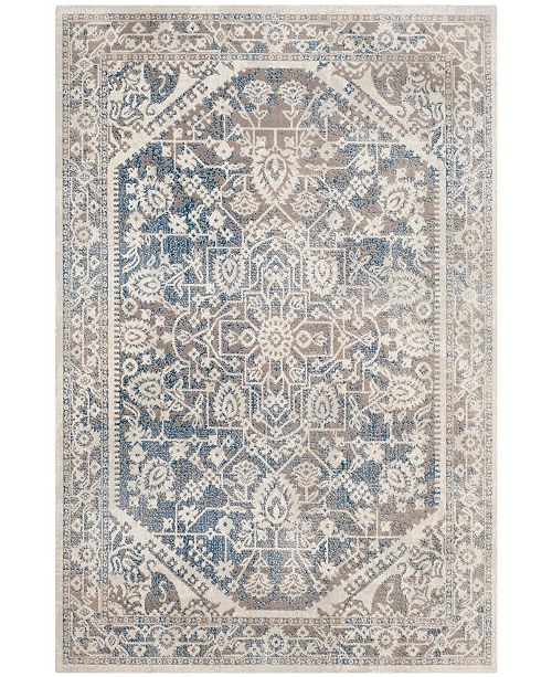 Safavieh Patina Gray and Blue 4' x 4' Square Area Rug