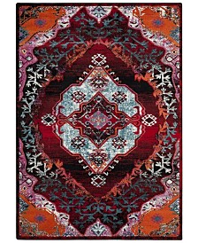 Safavieh Cherokee Light Blue and Red 4' x 6' Area Rug