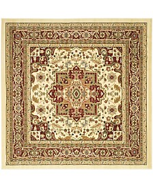 "Safavieh Lyndhurst Ivory and Red 5'3"" x 5'3"" Square Area Rug"