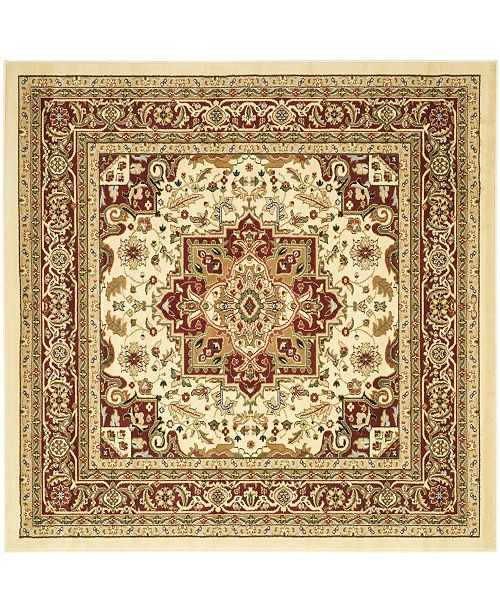 """Safavieh Lyndhurst Ivory and Red 5'3"""" x 5'3"""" Square Area Rug"""