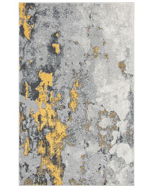 Safavieh Adirondack Gray and Yellow 4' x 6' Area Rug